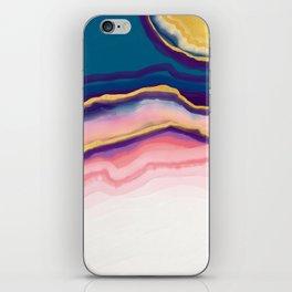 Coral Blue agate iPhone Skin