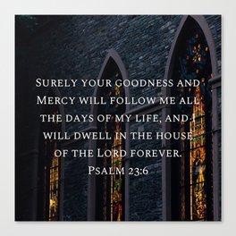 Psalm 23:6 Canvas Print