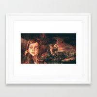 road Framed Art Prints featuring The Road Less Traveled by Alice X. Zhang