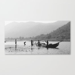 Life on the Godavari River Canvas Print