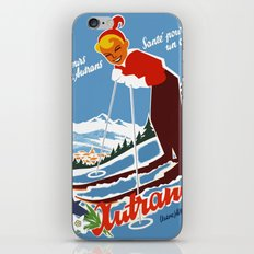 Vintage Autrans France Ski Travel iPhone & iPod Skin