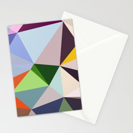 Abstract Geometric Art Colorful Design 6 Stationery Cards