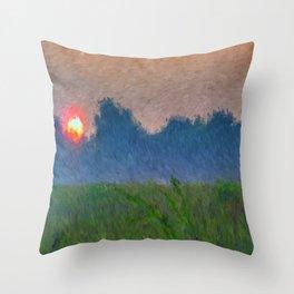 Morning Meadow Throw Pillow