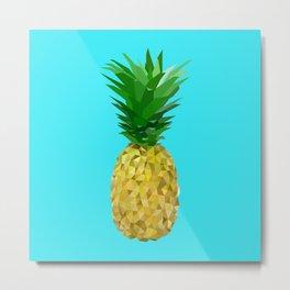 Lowpoly Pineapple Metal Print