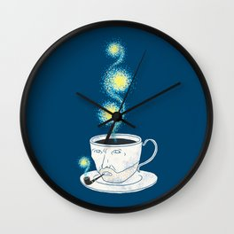 Starry starry coffee Wall Clock