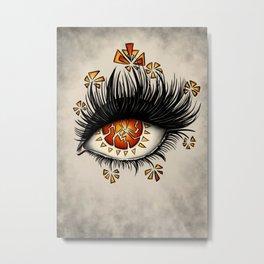 Weird Eye Of Fractured Lava   Digital Art Metal Print