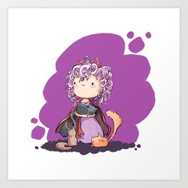 Rose - Curly hair princess Art Print