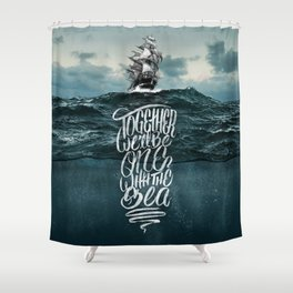 One With The Sea Shower Curtain