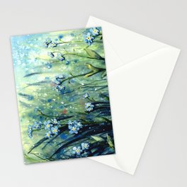 Forget me not flowers Stationery Cards