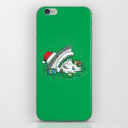 The Santa Shark iPhone Skin