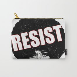 Angela Davis - Resist (black version) Carry-All Pouch