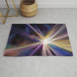 Creation of Light, Acrylic painting Rug