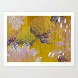 Crystal Camellia  Art Print
