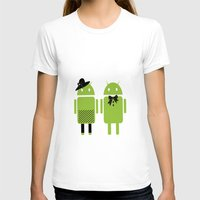 android T-shirts featuring android couple by Grazemee