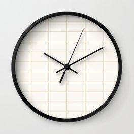 Back to Basics / Creamy & Ivory Grid Wall Clock