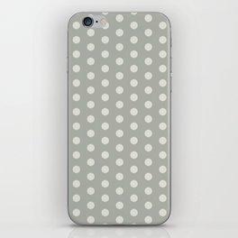Gray Grey Polka Dots iPhone Skin