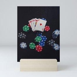 royal flush Mini Art Print