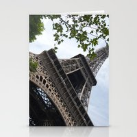 eiffel tower Stationery Cards featuring Eiffel Tower  by Françoise Reina
