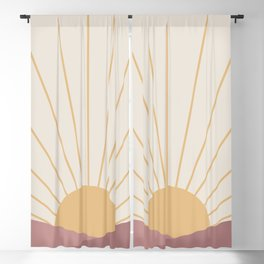 Morning Light - Pink Blackout Curtain