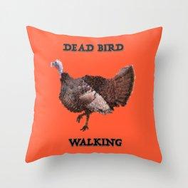Dead Bird Walking Throw Pillow