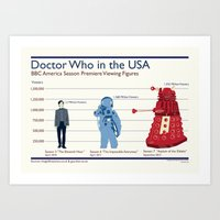 Doctor Who in the USA Art Print