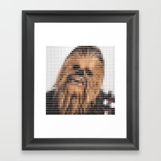 Chewbacca - StarWars - Pantone Swatch Art Framed Art Print