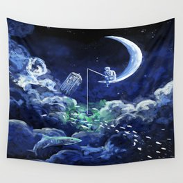 The Doctor Dreaming Of Fishing Wall Tapestry