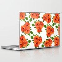 poppies Laptop & iPad Skins featuring Poppies by Heaven7