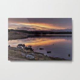 The Derwent Reservoir at sunset Metal Print