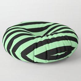 Chrysoprase and Black Stripes Floor Pillow