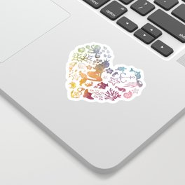 Mermaid Heart Sticker