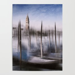 Digital-Art VENICE Grand Canal and St Mark's Campanile Poster