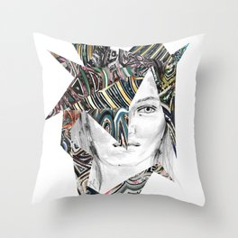Origami Girl Two Throw Pillow