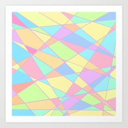 Pastel Rainbow stained glass Art Print