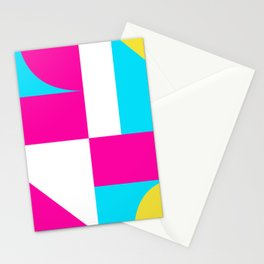 Mondrian style geometrical citric colors high resolution fine art for home decor. Stationery Cards