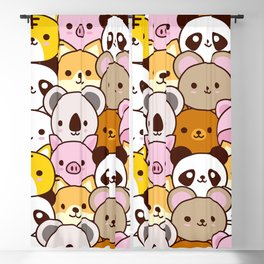 Cute baby animals  Blackout Curtain