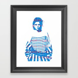 Fashion: Stripes Framed Art Print