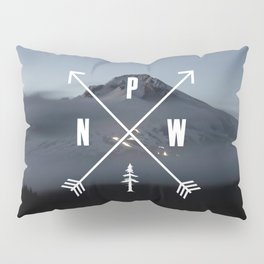 PNW Pacific Northwest Compass - Mt Hood Adventure Pillow Sham
