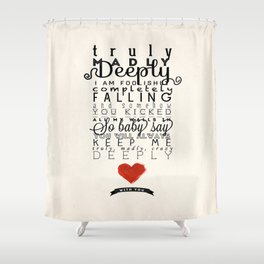 One Direction: Truly Madly Deeply Shower Curtain
