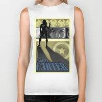 agent carter Biker Tanks featuring Agent Carter Pop art by rnlaing