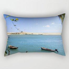 River and beach meeting on Brazil Rectangular Pillow