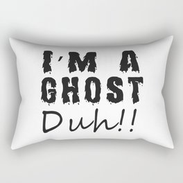 Funny I'm A Ghost Duh Halloween Costume Gift T-Shirt Rectangular Pillow