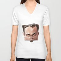 leonardo V-neck T-shirts featuring Leonardo Dicaprio by Alexander Novoseltsev