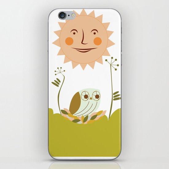 Owl sun iPhone & iPod Skin