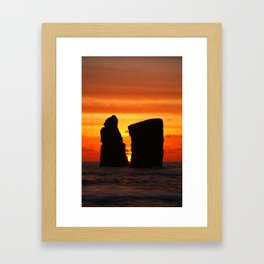 Islets at sunset Framed Art Print