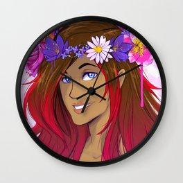 Crown of Flowers 1 Wall Clock