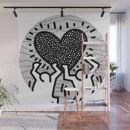 Keith Haring - heart Wall Mural