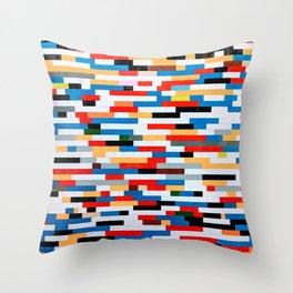 Multicolored Bright Building Bricks Pattern  Throw Pillow