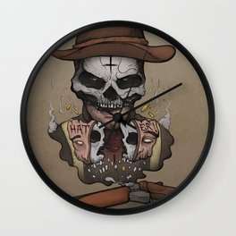 Don Medellín digital painting tribute Wall Clock