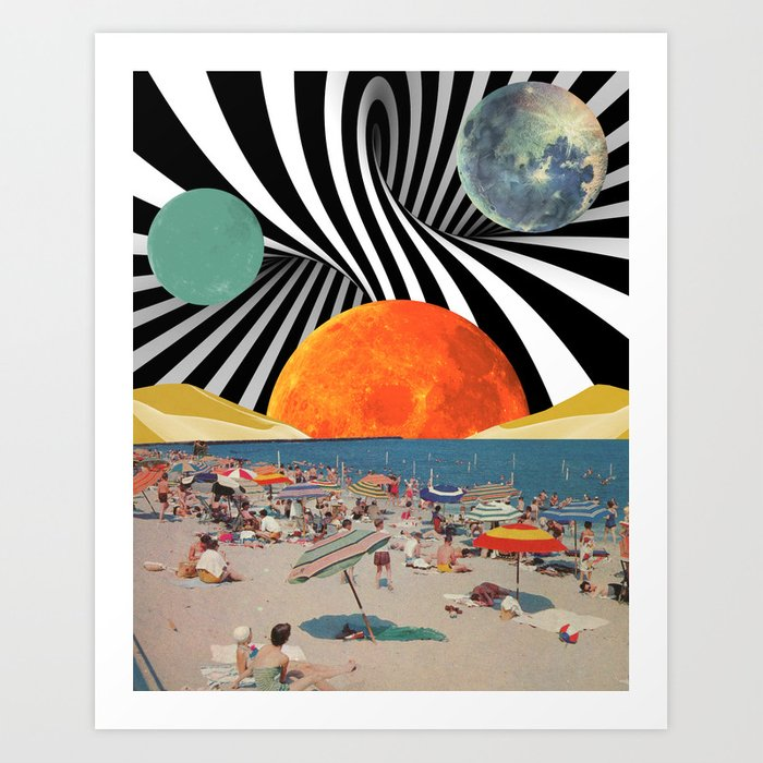 Psychedelic Beach Art Print